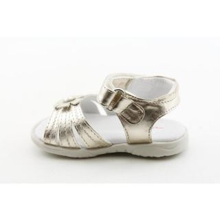 Josmo Infant Baby Girls Gold Open Toe Shoes (Size 2)