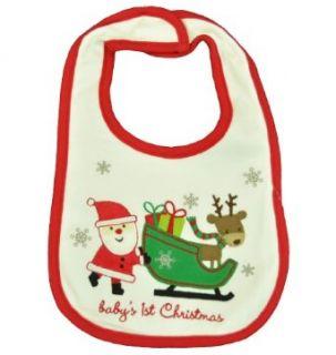 Carters Babys 1st Christmas Santa & Sleigh Bib Clothing