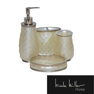 Nicole Miller Sparkle Bath Accessory Set