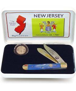 US Mint New Jersey State Quarter Coin/ Knife Set