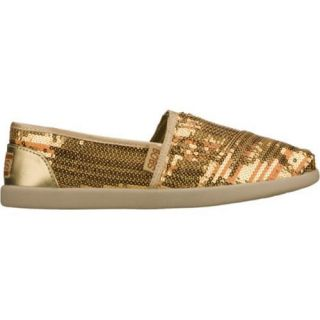 Womens Skechers BOBS World Peace Party Gold/Gold