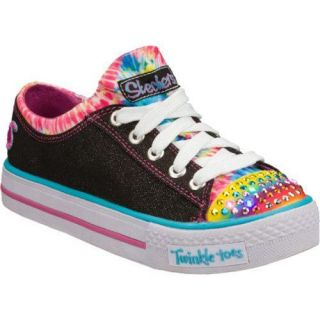 Girls Skechers Twinkle Toes Shuffles Much Love Black/Multi