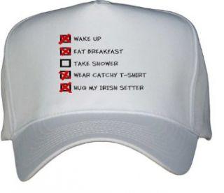 HUG MY IRISH SETTER CHECKLIST White Hat / Baseball Cap