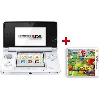 3DS BLANC ARCTIQUE + MARIO TENNIS OPEN   Achat / Vente DS 3DS BLANC