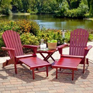 Big Daddy Adirondack Chair set with FREE Side Table  Red