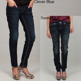 Seven7 Womens Chevron S Skinny Jeans