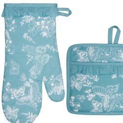 Mariposa Ruffle Apron and Mitt Hostess Gift Set