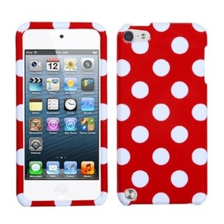 MYBAT White Dots/ Red Case for Apple iPod Touch Generation 5