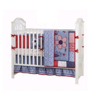 BananaFish Country Cottage 4 piece Crib Bedding Set