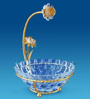 24k Gold Plated Crystal Candy Bowl Decorated with