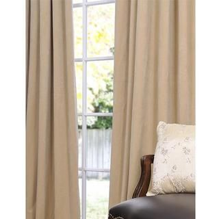 Signature Wheat Velvet 120 inch Blackout Curtain Panel