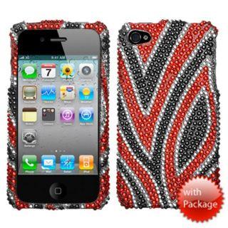Premium Apple iPhone 4 Houndstooth Rhinestone Protector Case