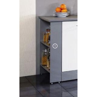 HARMONY 1 Rangement latéral gris   Achat / Vente ELEMENTS HAUT ET BAS