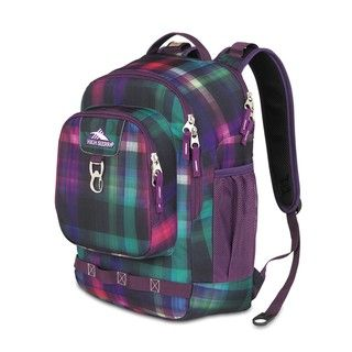High Sierra Brewster Whimsy Plaid Laptop Backpack