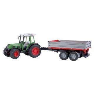 Tract FENDT Farmer 209S avec remorque basculante Série Top Pro de