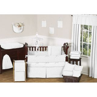Sweet Jojo Designs White Diamond 9 piece Crib Bedding Set Today $189