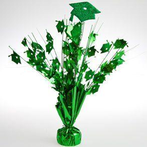 Green Graduation Cap Centerpieces: Toys & Games