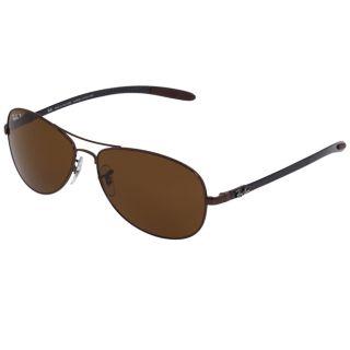 Ray Ban Unisex RB 8301 Brown Carbon Fiber Aviator Sunglasses