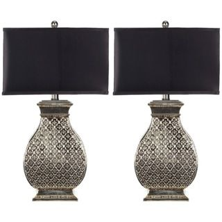 Indoor 1 light Royal Spain Silver Finish Table Lamps (Set of 2