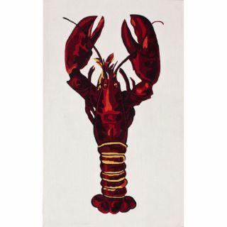 Handmade Luna Deco Lobster Ivory Rug (5 x 8)
