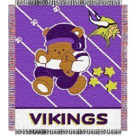 Minnesota Vikings 36x48 Baby Blanket / Throw Sports