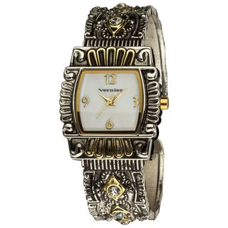 Vernier Ladies Classic Antique look Two Tone Bangle Watch