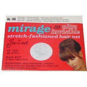 Hair Net Regular Size * Neutral * No. 146 * 2 Nets Per Package Beauty