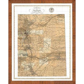 Map of Colorado Framed Print