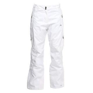 Coloris  Blanc. Un pantalon de ski TRESPASS Femme avec ceinture à