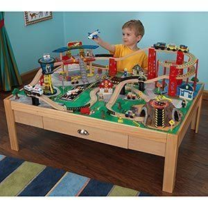 KIDKRAFT Airport Express Train Set and Table Toys & Games
