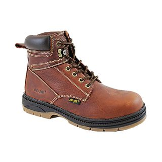 AdTec Mens Reinforced Leather Work Boots