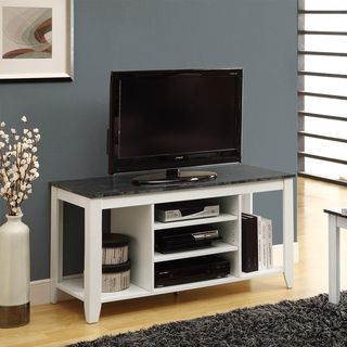 White/ Grey Marble 48 inch TV Console