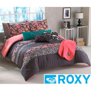 Roxy Samantha Floral 5 piece Comforter Set with Body Pillow and Throw