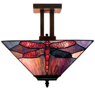 Dragonfly Tiffany style Pendant Light Fixture