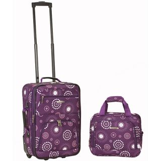 Rockland Expandable Purple Pearl 2 piece Lightweight Carry on Luggage