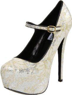 Viktoree Mary Jane Pump,Silver Multi,8.5 M US Steve Madden Shoes