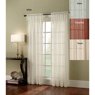 Crushed Lurex Stripe 84 inch Curtain Panel