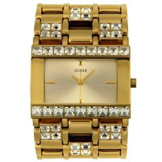 GUESS? Womens 10591L Gold Tone Crystal Accented Watch Watches