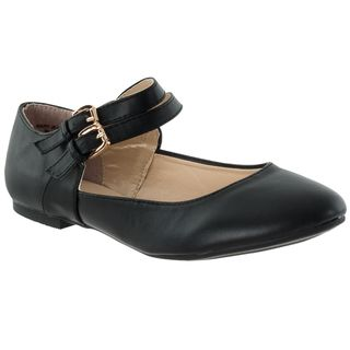 Riverberry Womens Mary Jeans Double strap Flats