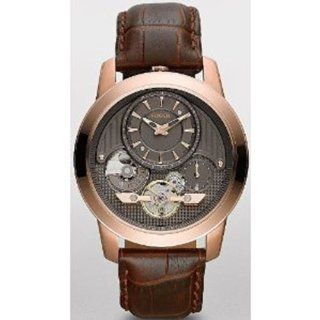 Fossil Grant Twist Leather Watch Brown Watches