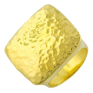 Fremada Gold over Sterling Silver Hammered Etro style Ring Today $122