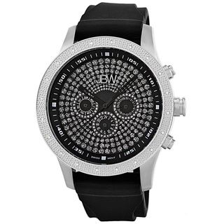 JBW Mens Coliseum Sport Diamond Stainless Steel Bezel Black Multi