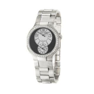 Philip Stein Womens Modern Stainless Steel Quartz Diamond Watch