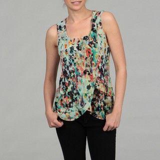 Calvin Klein Womens Fragmented Floral Top