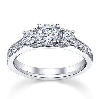 14k White Gold 1 1/2ct TDW Diamond Engagement Ring (H I, SI1 SI2