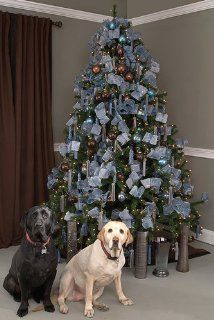 156 piece Aqua And Chocolate Fashion Christmas Tree