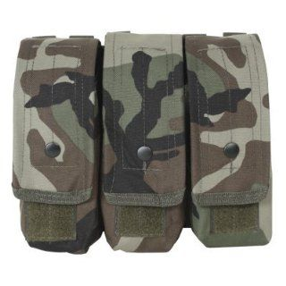 Voodoo Tactical Camo M4/AK47 Triple Mag Pouch Airsoft