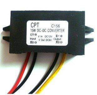 C156)Waterproof DC/DC Converter 12V Step down to 6V 15W Max 3A Power