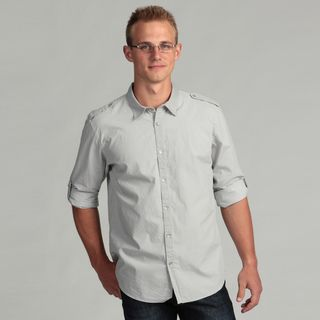 Calvin Klein Mens Button Front Short Sleeve Shirt