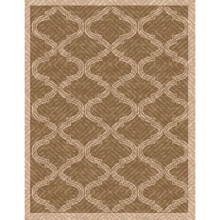 Woven Indoor/ Outdoor Bombay Lt Brown/ Beige Patio Rug (79 x 11